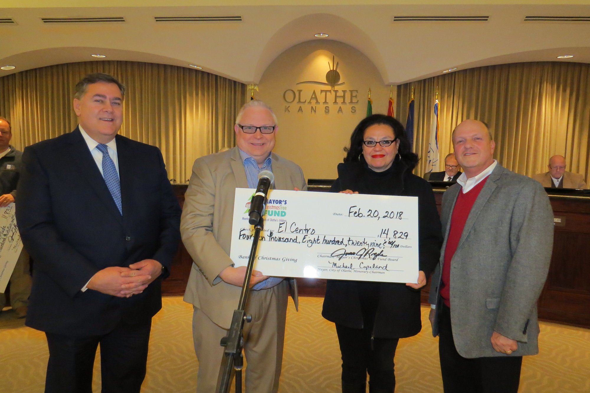 El Centro, a beneficiary of the Olathe Mayor's Christmas Tree Fund